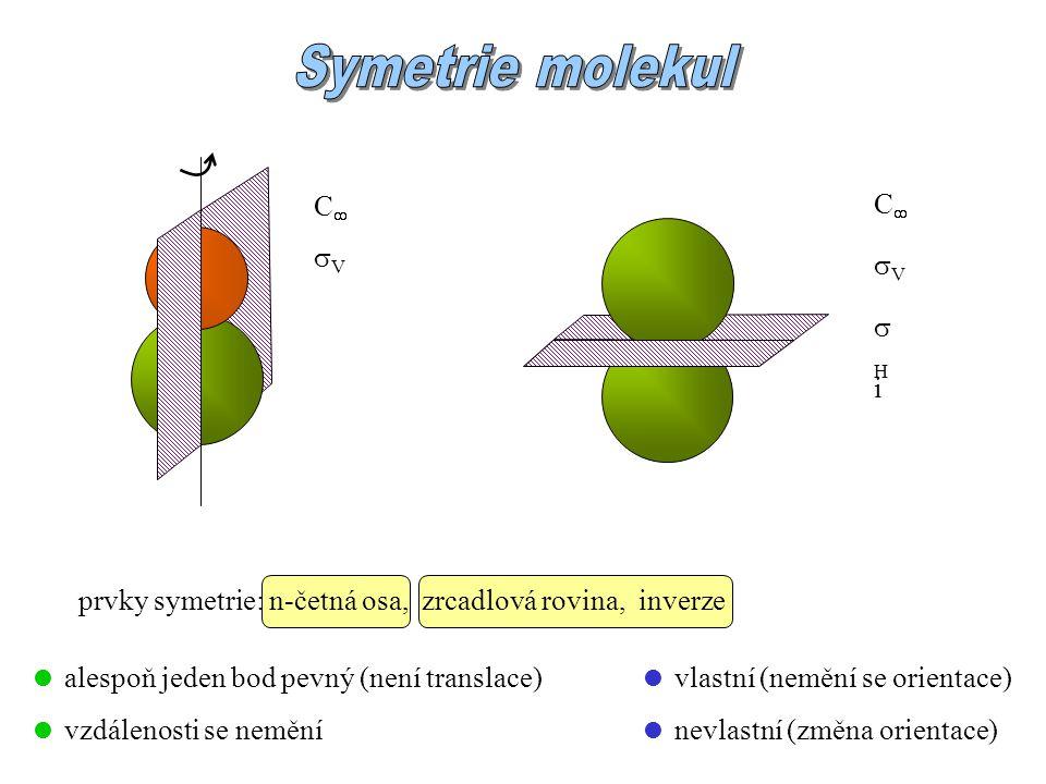 Symetrie molekul C C V V H i