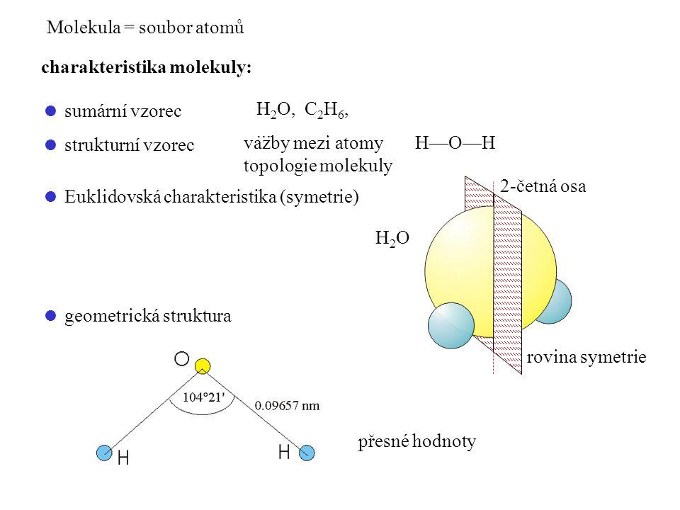 Molekula = soubor atomů