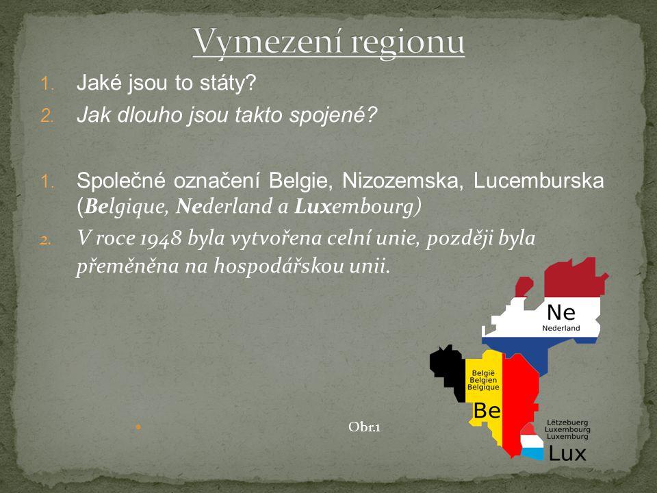 Vymezení regionu Jaké jsou to státy Jak dlouho jsou takto spojené