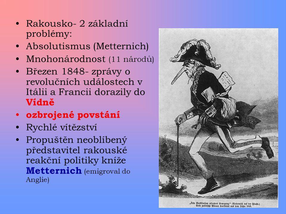 Rakousko- 2 základní problémy: