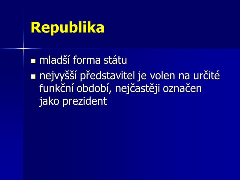 Republika mladší forma státu