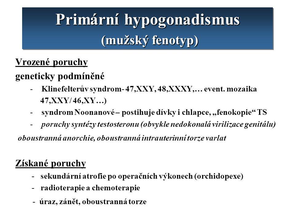 Primární hypogonadismus (mužský fenotyp)
