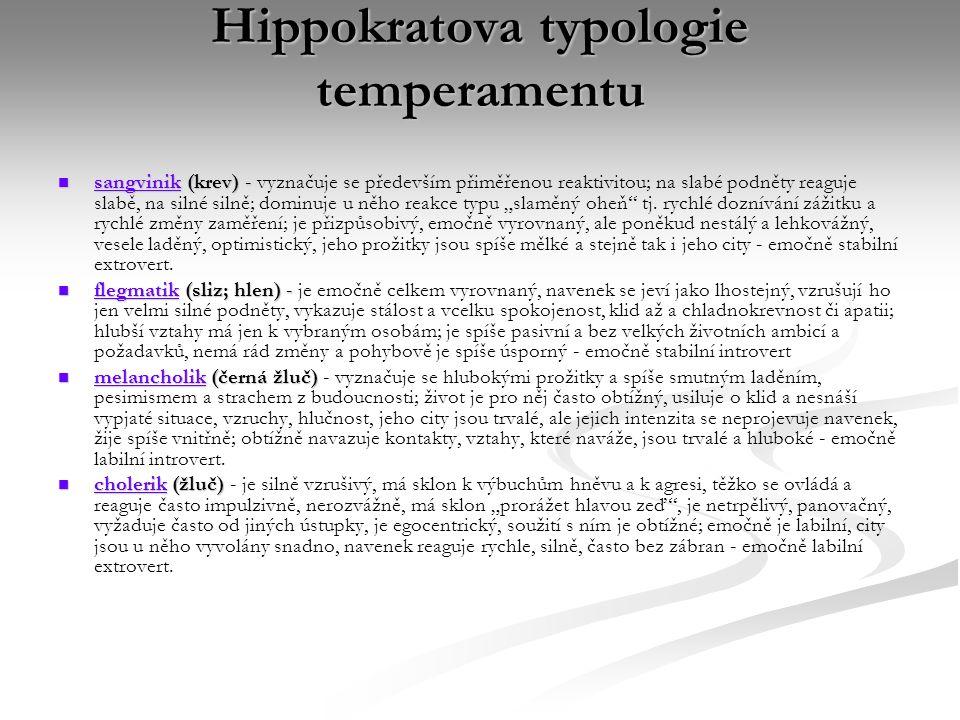 Hippokratova typologie temperamentu