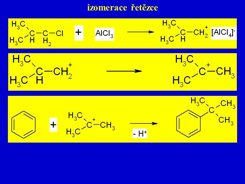 izomerace řetězce