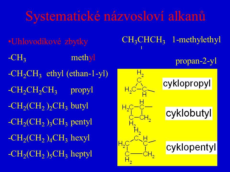 Systematické názvosloví alkanů