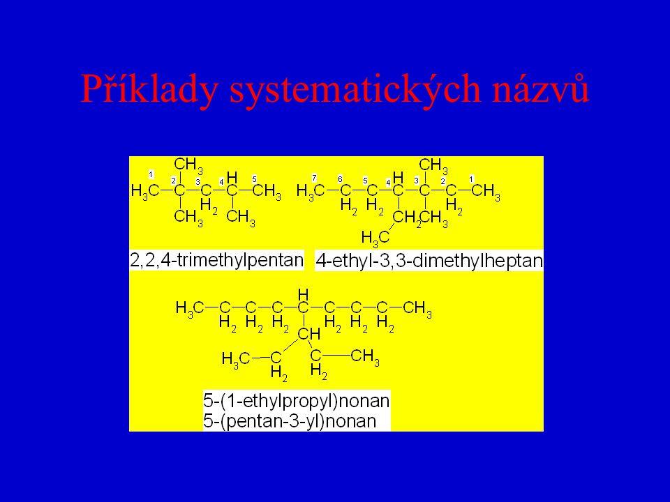 Příklady systematických názvů