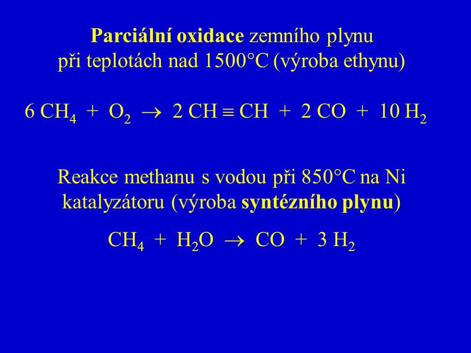 Parciální oxidace zemního plynu
