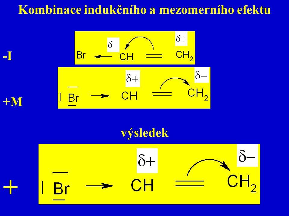 Kombinace indukčního a mezomerního efektu