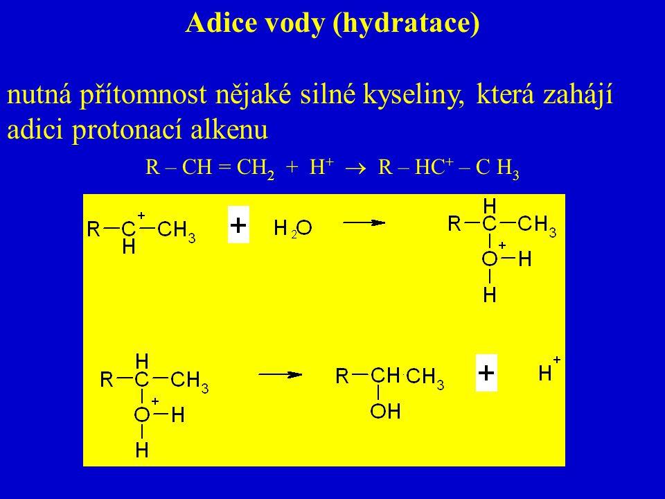 Adice vody (hydratace)
