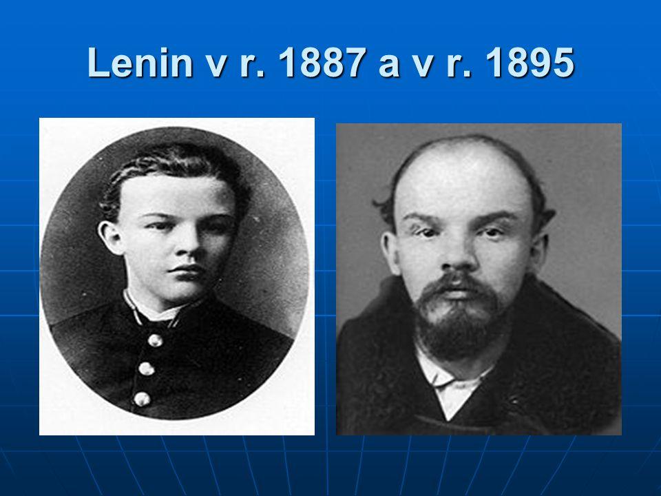 Lenin v r. 1887 a v r. 1895
