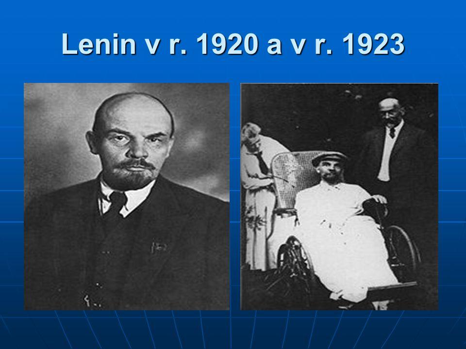 Lenin v r. 1920 a v r. 1923