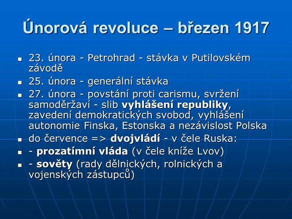 Únorová revoluce – březen 1917