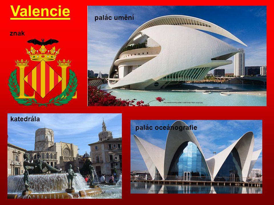 Valencie palác umění znak katedrála palác oceánografie