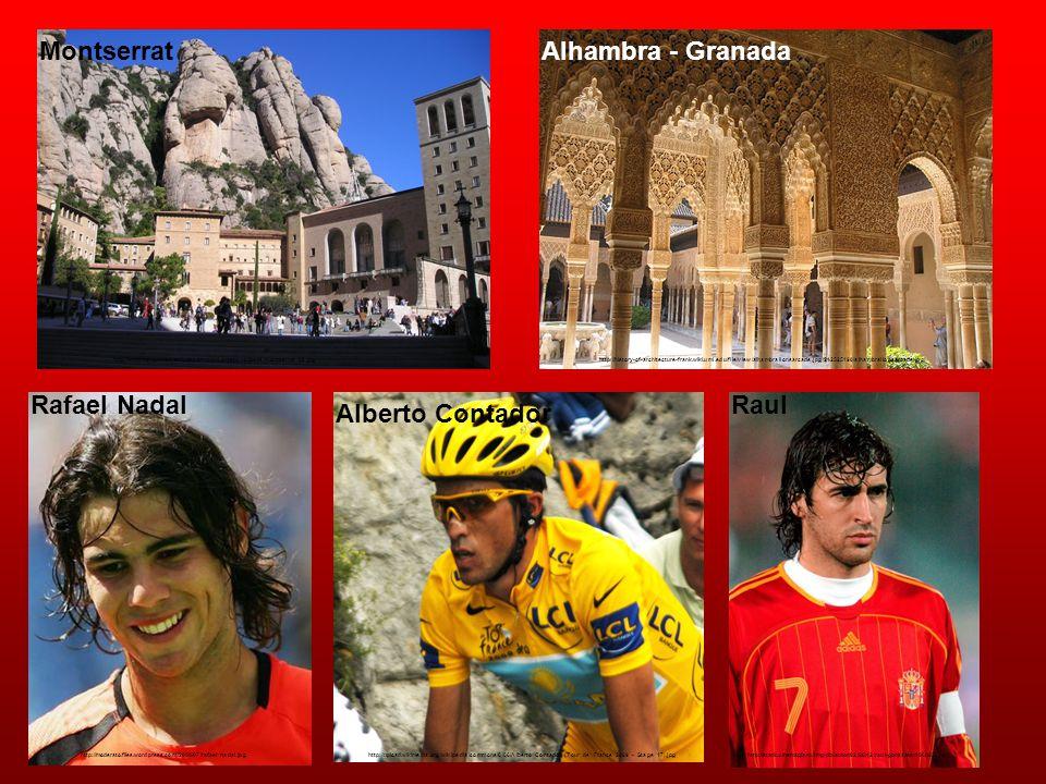 Montserrat Alhambra - Granada Rafael Nadal Raul Alberto Contador