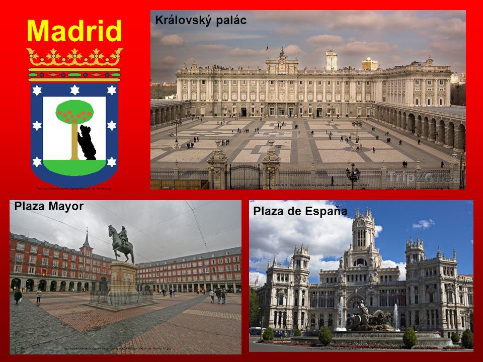 Madrid Královský palác Plaza Mayor Plaza de Espaňa