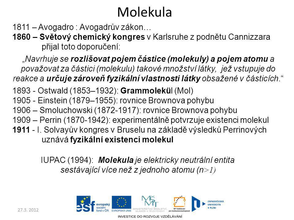 Molekula 1811 – Avogadro : Avogadrův zákon…