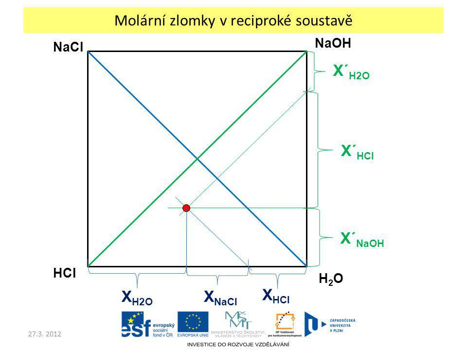 Molární zlomky v reciproké soustavě