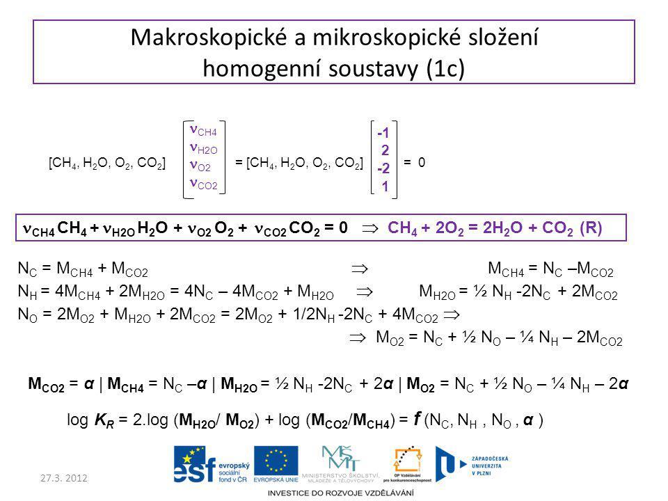 Makroskopické a mikroskopické složení homogenní soustavy (1c)