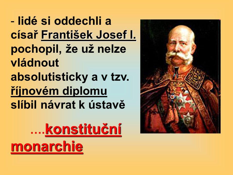 lidé si oddechli a císař František Josef I