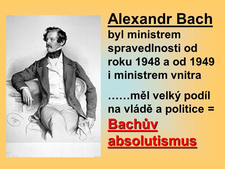 Alexandr Bach byl ministrem spravedlnosti od roku 1948 a od 1949 i ministrem vnitra