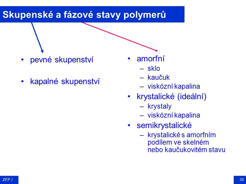 Skupenské a fázové stavy polymerů