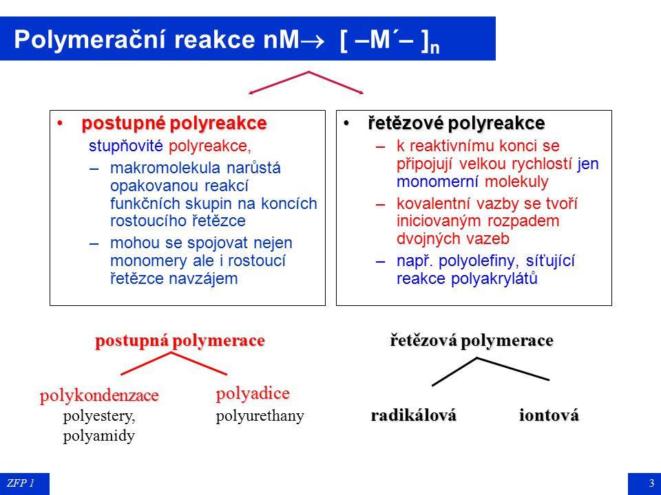 polykondenzace polyestery, polyamidy