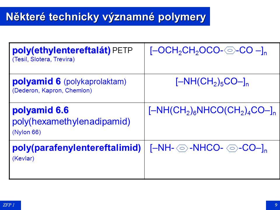 Některé technicky významné polymery
