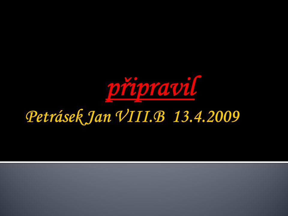 připravil Petrásek Jan VIII.B 13.4.2009
