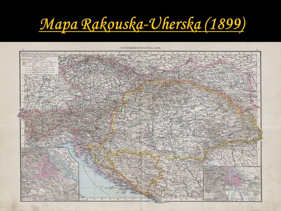 Mapa Rakouska-Uherska (1899)