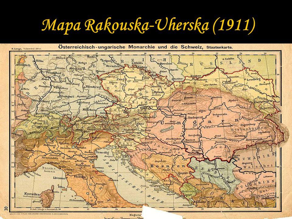 Mapa Rakouska-Uherska (1911)