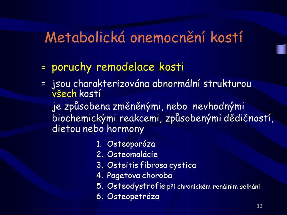 Metabolická onemocnění kostí