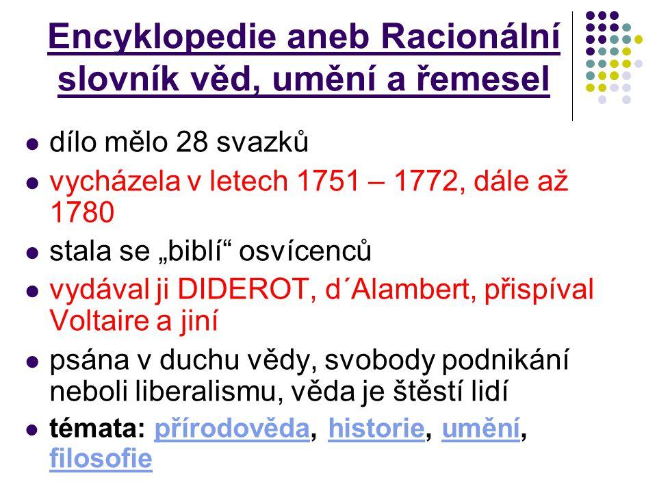 Encyklopedie aneb Racionální slovník věd, umění a řemesel