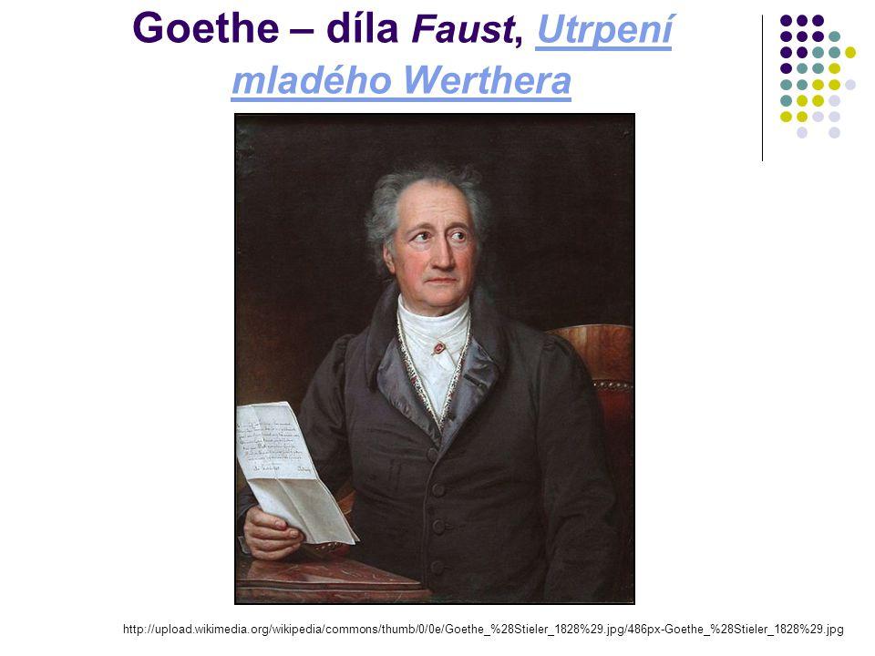 Goethe – díla Faust, Utrpení mladého Werthera