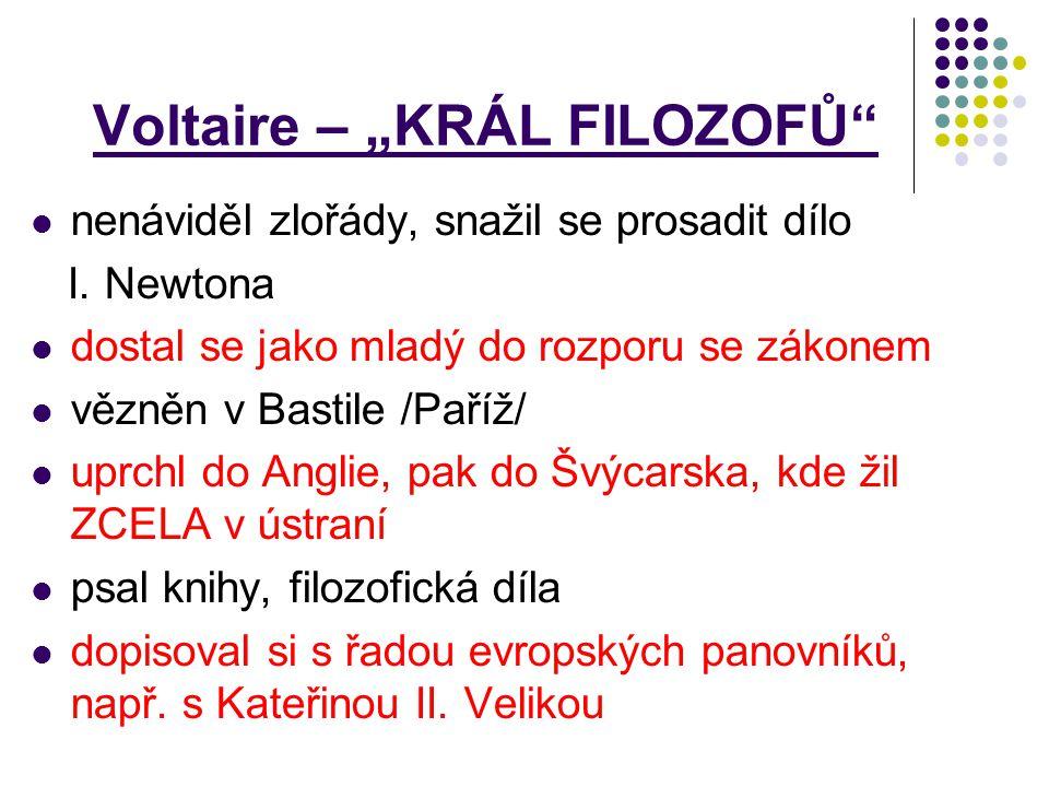 """Voltaire – """"KRÁL FILOZOFŮ"""