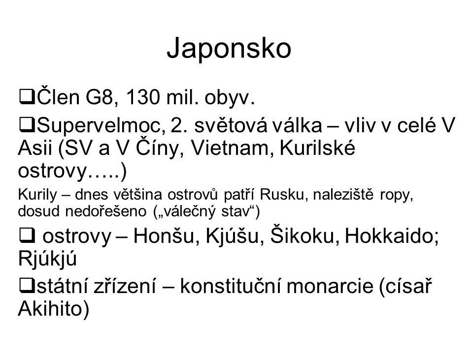 Japonsko Člen G8, 130 mil. obyv.