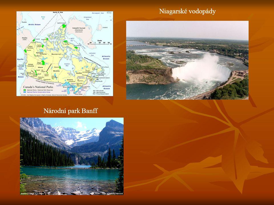 Niagarské vodopády N Národní park Banff
