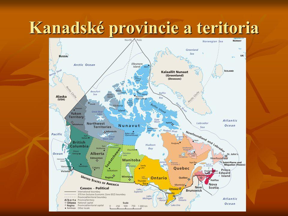 Kanadské provincie a teritoria