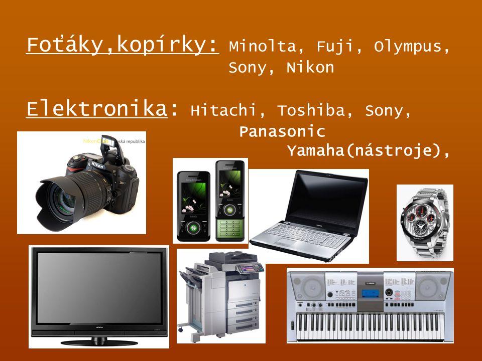 Foťáky,kopírky: Minolta, Fuji, Olympus, Sony, Nikon