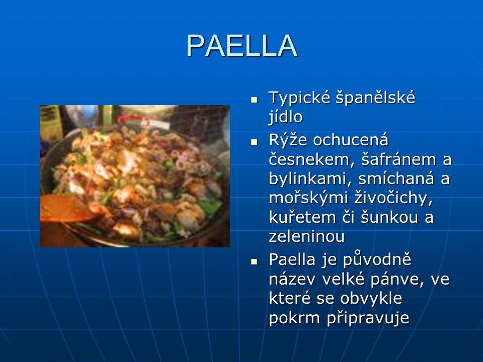 PAELLA Typické španělské jídlo