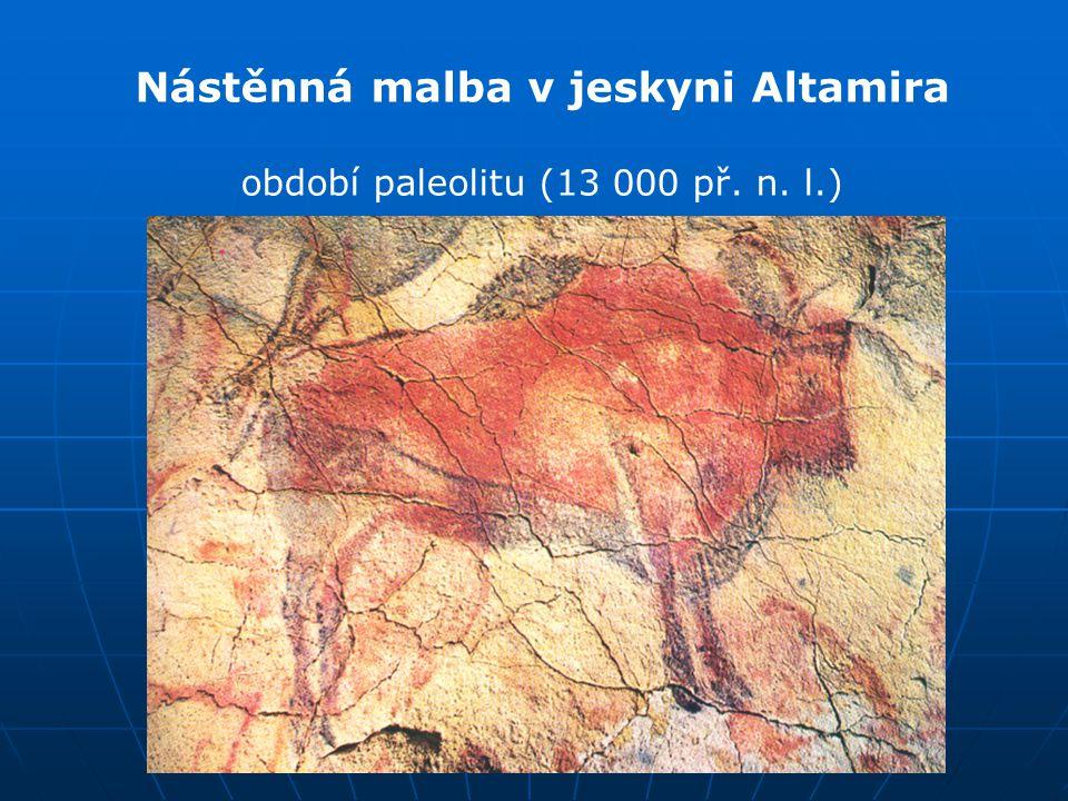 Nástěnná malba v jeskyni Altamira