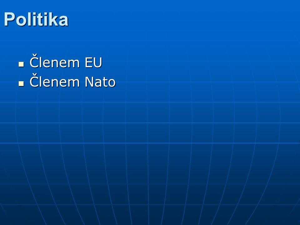 Politika Členem EU Členem Nato