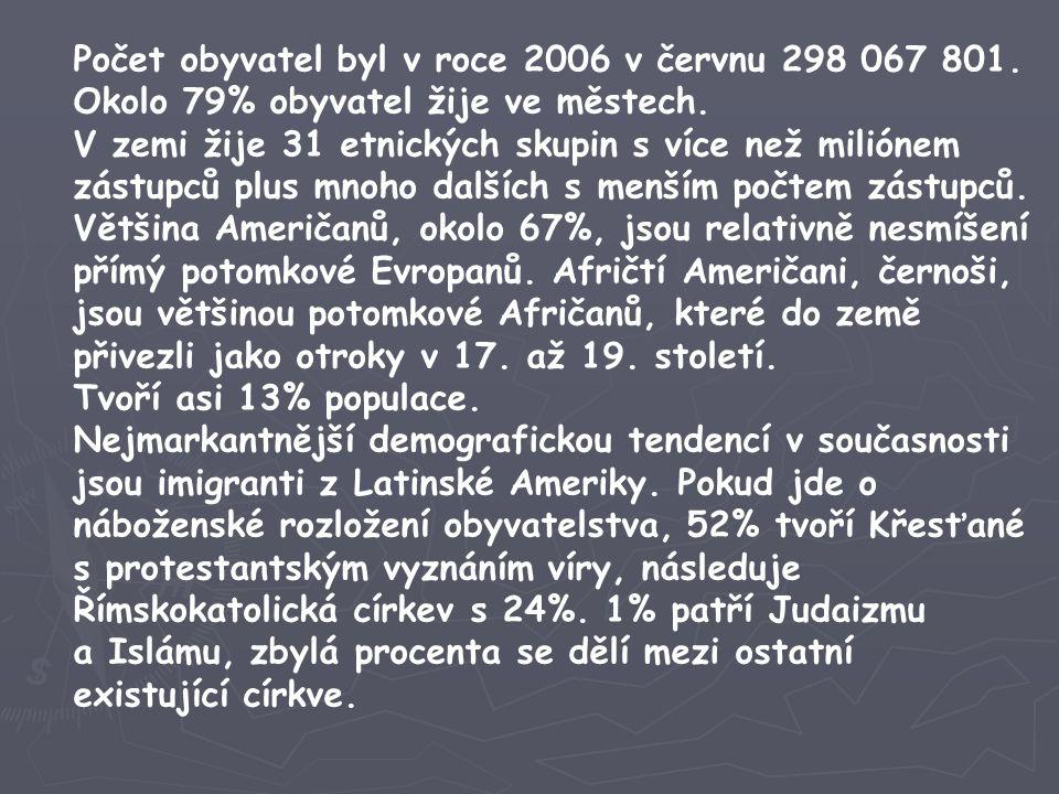 Počet obyvatel byl v roce 2006 v červnu 298 067 801.
