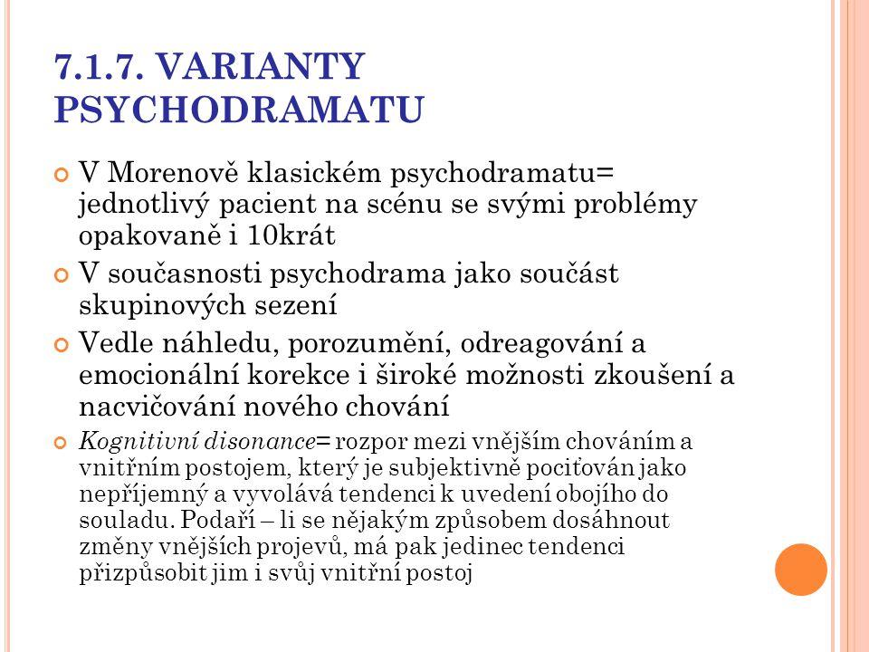 7.1.7. VARIANTY PSYCHODRAMATU
