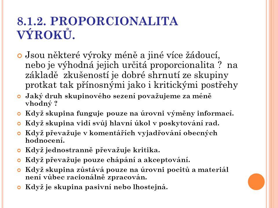 8.1.2. PROPORCIONALITA VÝROKŮ.