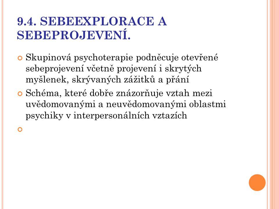 9.4. SEBEEXPLORACE A SEBEPROJEVENÍ.