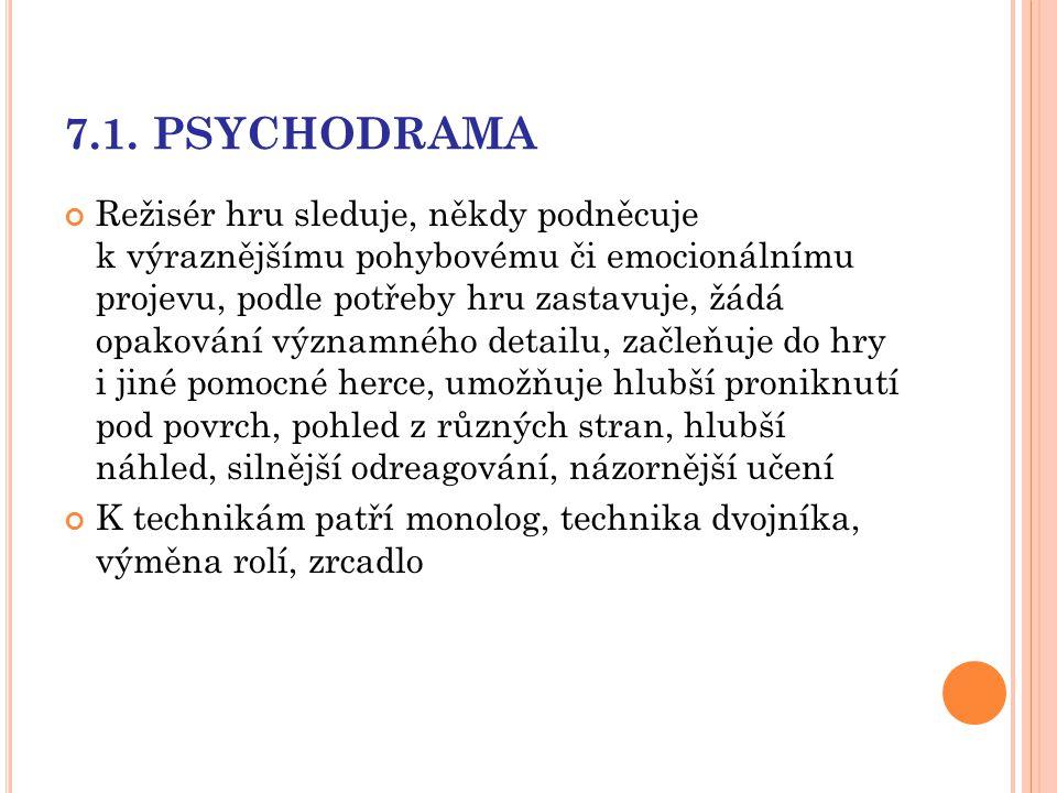 7.1. PSYCHODRAMA