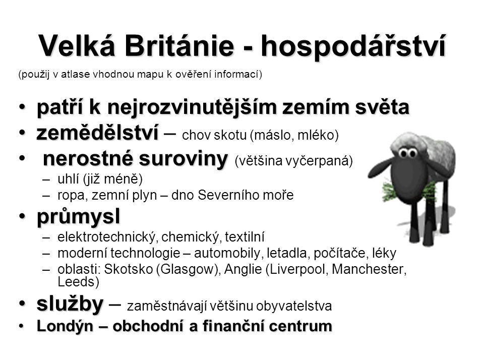 Velká Británie - hospodářství