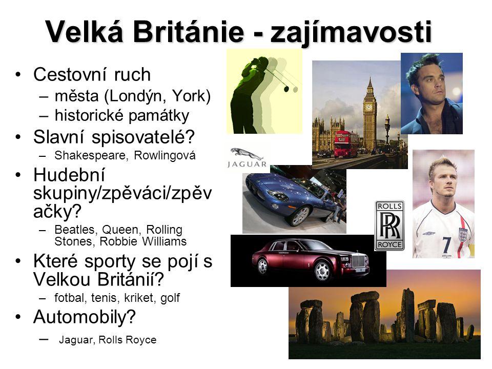 Velká Británie - zajímavosti