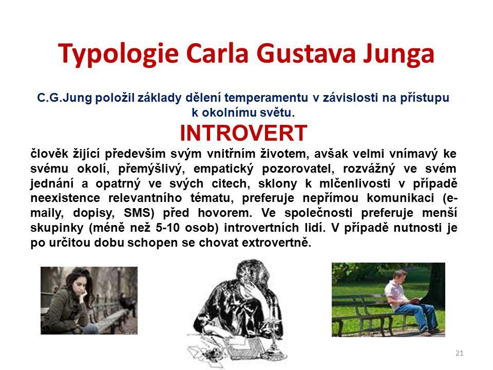 Typologie Carla Gustava Junga