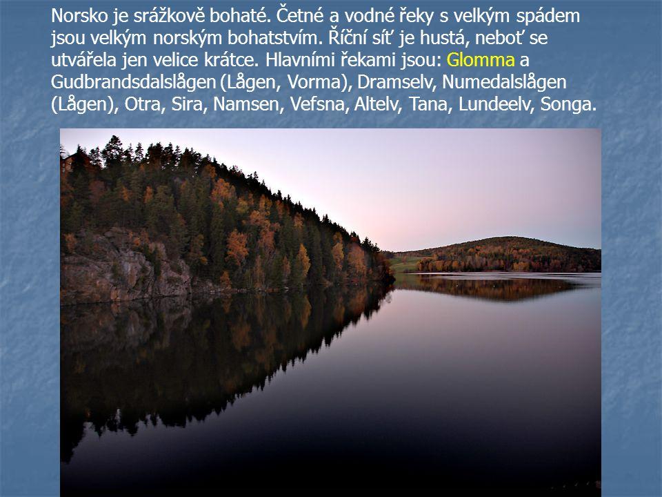 Norsko je srážkově bohaté